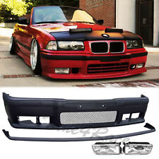 92-98 BMW E36 3-Series front bumper lip & clear crystal fog light 2/4 Drs NEW