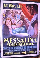 MANIFESTO ORIGINALE MESSALINA VENERE IMPERATRICE 60 BELINDA LEE