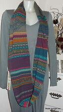 IVKO Lammwolle Schal Loop scarf Cherry Pie petrol blau 42544 lambswool