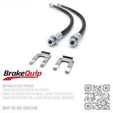 BRAKEQUIP BRAKE HOSE FRONT KIT [HOLDEN FB-EK WITH HD-HR or HK-HT-HG DISC BRAKES]