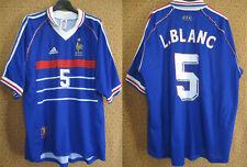 Maillot EQUIPE DE FRANCE Laurent BLANC Mondial 1998 Vintage Adidas - XL