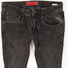 Da UOMO REPLAY ANBASS M914 Stretch A Sigaretta Slim Fit Grigio Jeans W30 L34