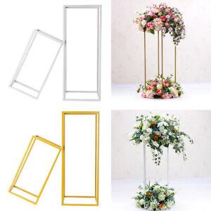 40/60cm Metal Geometric Flower Stand Pedestal Table Centrepiece Wedding Decor UK