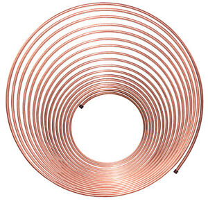 4LIFETIMELINES Copper-Nickel Brake Line Tubing Coil - 1/4 Inch, 50 Feet