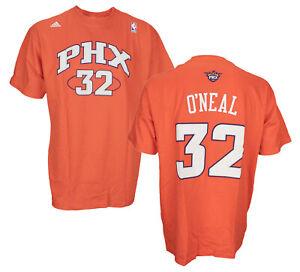 Adidas NBA Basketball Men's Phoenix Suns O'Neal #32 T-Shirt - Orange