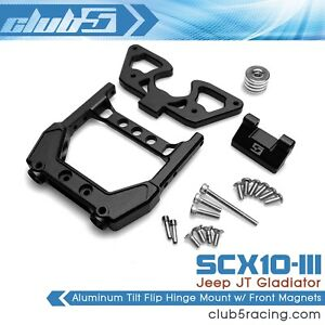 """EZOFF"" Aluminum Flip Hinge Mount w/ Front Magnets for SCX10 III JT Gladiator"