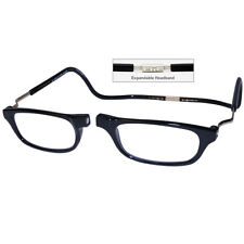 CliC +3.0 Diopter Magnetic Reading Glasses: Expandable - Black, Cheaters, Specs
