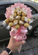 Pink Roses & Chocolates Bouquet Gift Hamper For Any Occassions Thank You