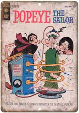 "Popeye The Sailor Gold Key comics Vintage 10"" X 7"" Reproduction Metal Sign J237"