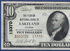 FL 1929 $10 TYPE-TWO  ♚♚LAKELAND, FLORIDA♚♚ PMG ABOUT UNC 55 EPQ