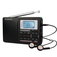 Full Band FM Stereo/MW/SW DSP Radio Sound World Band Receiver LED US Seller Ship