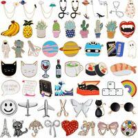 Fashion Cartoon Piercing Brooch Pin Collar Decor Badge Corsage Jewelry Xmas Gift
