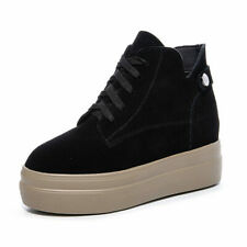 Athletic Trainers Women Platform Wedge Fashion Leather Sneakers High Heel Boots