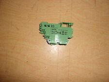 Phoenix DE1C1.5 Contact Green 30-14 AWG, Lot of 3 Terminal Blocks *FREE SHIPPING
