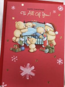 Beautiful Large Hallmark Forever Friends To All Of You  Christmas Card