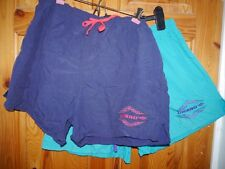 Umbro pair 2x shorts vintage 80s soccar football shorts blue turquoise M 8 10 12