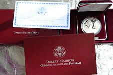1999 PROOF Dolley Madison US Mint 90% Silver Dollar Coin with COA and Box Dolly