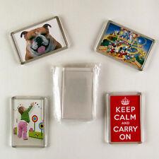 10  BLANK photo DIY 70x45 make your own fridge magnets