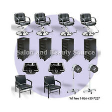 New Salon Spa Package Equipment Shampoo Styling Chairs