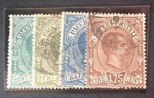 Timbre Italie collis postaux, n°1/2/4/6, Obl, B/TB, cote 210e.