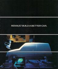 Renault Build A Better Car 1984-85 UK Market Corporate Sales Brochure 5 9 25