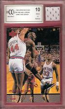 MICHAEL JORDAN GRADED 10 MJX TIMELINE CARD #31 & GAME USED JERSEY CHICAGO BULLS