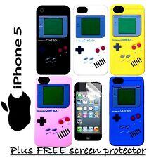 IPhone 5 5s Nintendo Gameboy Silicona Funda Cubierta Multi Colores Nuevo
