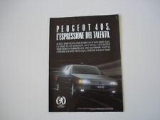 advertising Pubblicità 1987 PEUGEOT 405