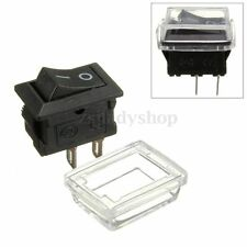 Black 2 Pin On/Off Waterproof Rocker Switch+Cover Fit Car Dashboard Dash Boat