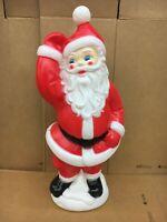 "Blow Mold Dancing Waving Santa General Foam New 40"" Inches"