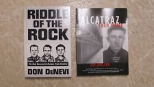 Riddle of the Rock by DonDeNevi & Alcatraz From Inside Jim Quillen w/ Ticket OR!