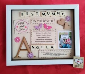 Personalised MUM GIFT PICTURE FRAME KEEPSAKE PLAQUE Nan Grandma Aunt MOTHERS DAY