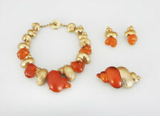Christian Dior demi parure Shell Necklace, Earrings, Pin, Goossens Design