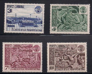 Cambodia   1966   Sc # 165-68   VLH   (1040)