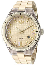 NEW ADIDAS CAMBRIDGE GOLD TONE ALUMINUM LARGE DIAL WATCH+DATE ADH2543