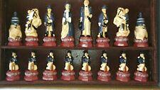 AMERICAN CIVIL WAR SAC Studio Anne Carlton Chess Piece Set Handmade in England