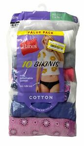 "Hanes: ""Womens Bikinis"" Cotton, 9-Pack Only, Size 7, New Open Box"