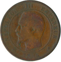 COIN / FRANCE / 10 CENTIMES 1856 NAPOLEON III. #WT5521