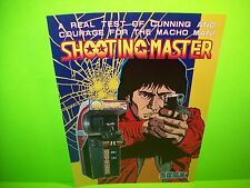 Sega SHOOTING MASTER Original 1985 NOS Video Arcade Game Promo Sales Flyer Japan