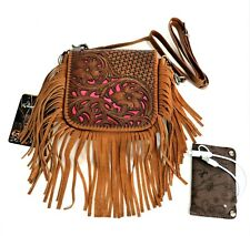 Montana West Leather Purse Power Bank Western Country Fringe Crossbody Bag