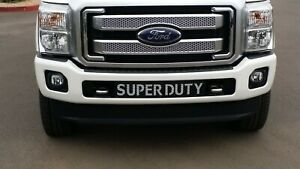 2011-2016F-250F350 SuperDuty Lower Front Bumper Grille Black with white mesh