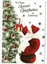 Godfather Christmas Card 'To A Very Special Godfather'