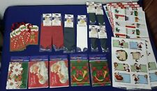 Christmas Invitations, Bows, Ribbons, To/From Stickers Gift Wrapping Lot