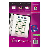 Avery Top Load Sheet Protector Heavyweight 8 1/2 x 5 1/2 Clear 25/Pack 77004