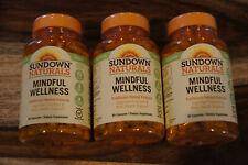 3 Pack Sundown Naturals MINDFUL WELLNESS Cognitive Health 270Total Caps 01/20