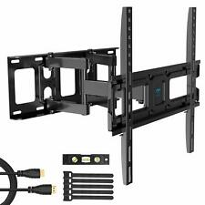 PERLESMITH TV Wall Mount Bracket Full Motion Dual Swivel Articulating Arms Ex...