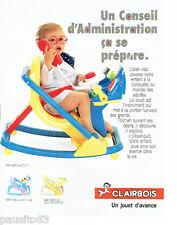 PUBLICITE ADVERTISING 046  1988  Clairbois jeux jouets  baby bascule