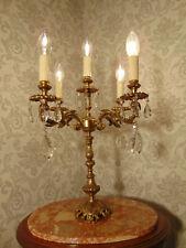 antik alter großer  Kandelaber Leuchter Bronze Gold Kristall Frankreich ca. 1930
