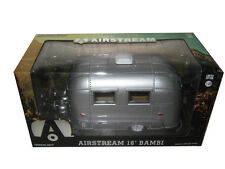 Chase AIRSTREAM BAMBI 16' CAMPER TRAILER SILVER 1/24 DIECAST BY GREENLIGHT 18224