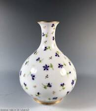 Porcelain Bud Vase ~ Vieux Nyon Swiss Cornflower Pattern ~ Limoges